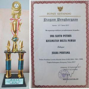 Piala Dan Piagam Sekolah Sehat SMA Tingkat Kabupaten Ketapang Tahun 2017